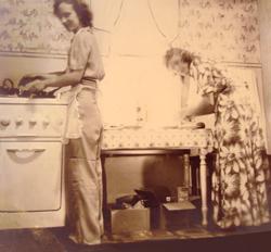 1940s kitchen.